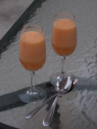 Cantaloupe mousse